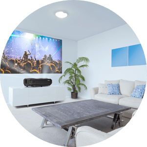 Enjoy Vivid Images in a Bright Living Environment