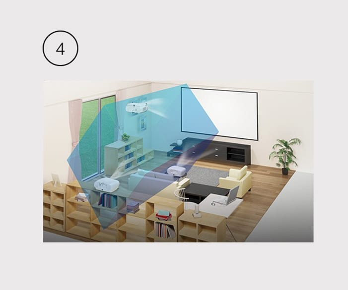 Myth 4: Projector images are too big for the home.